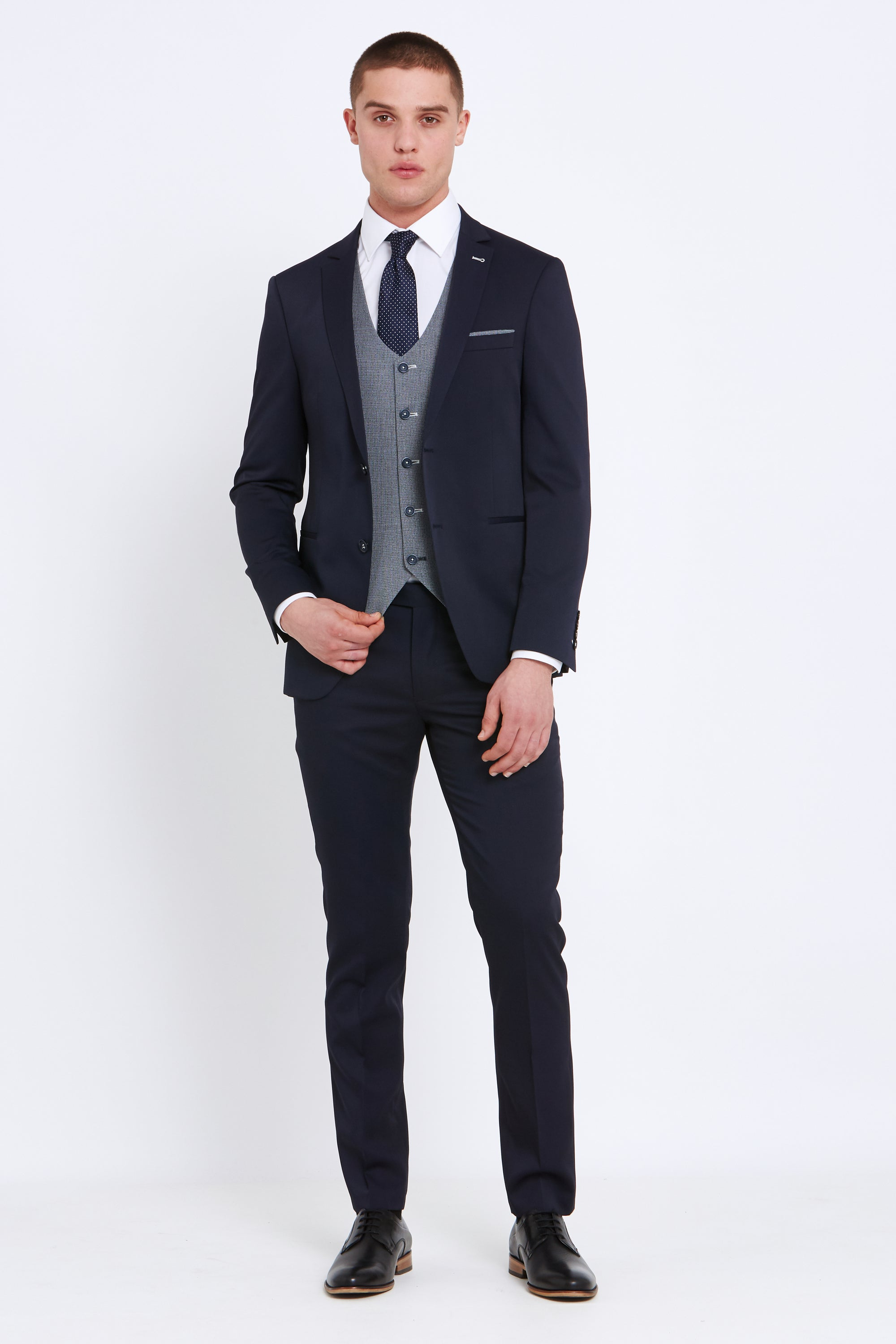 Travis Super Skinny 3 Piece Louis Suit