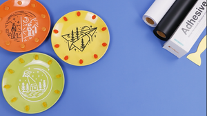 How to Apply Adhesive Vinyl to Dishes More Fun