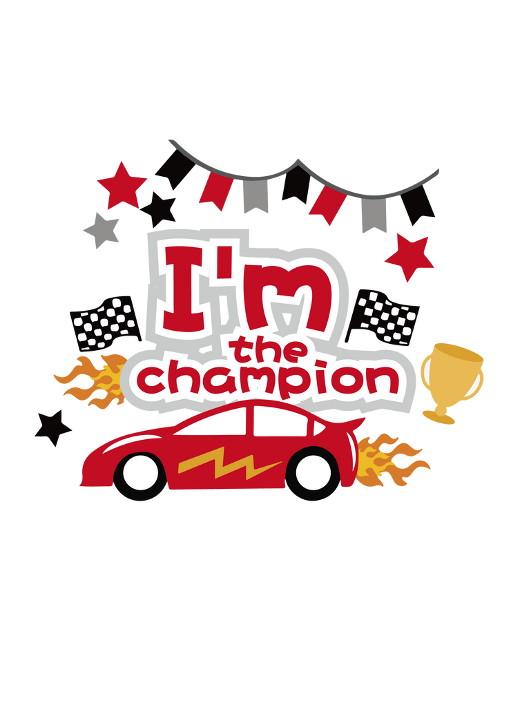 HTVRont I'm the Champion SVG File for Free