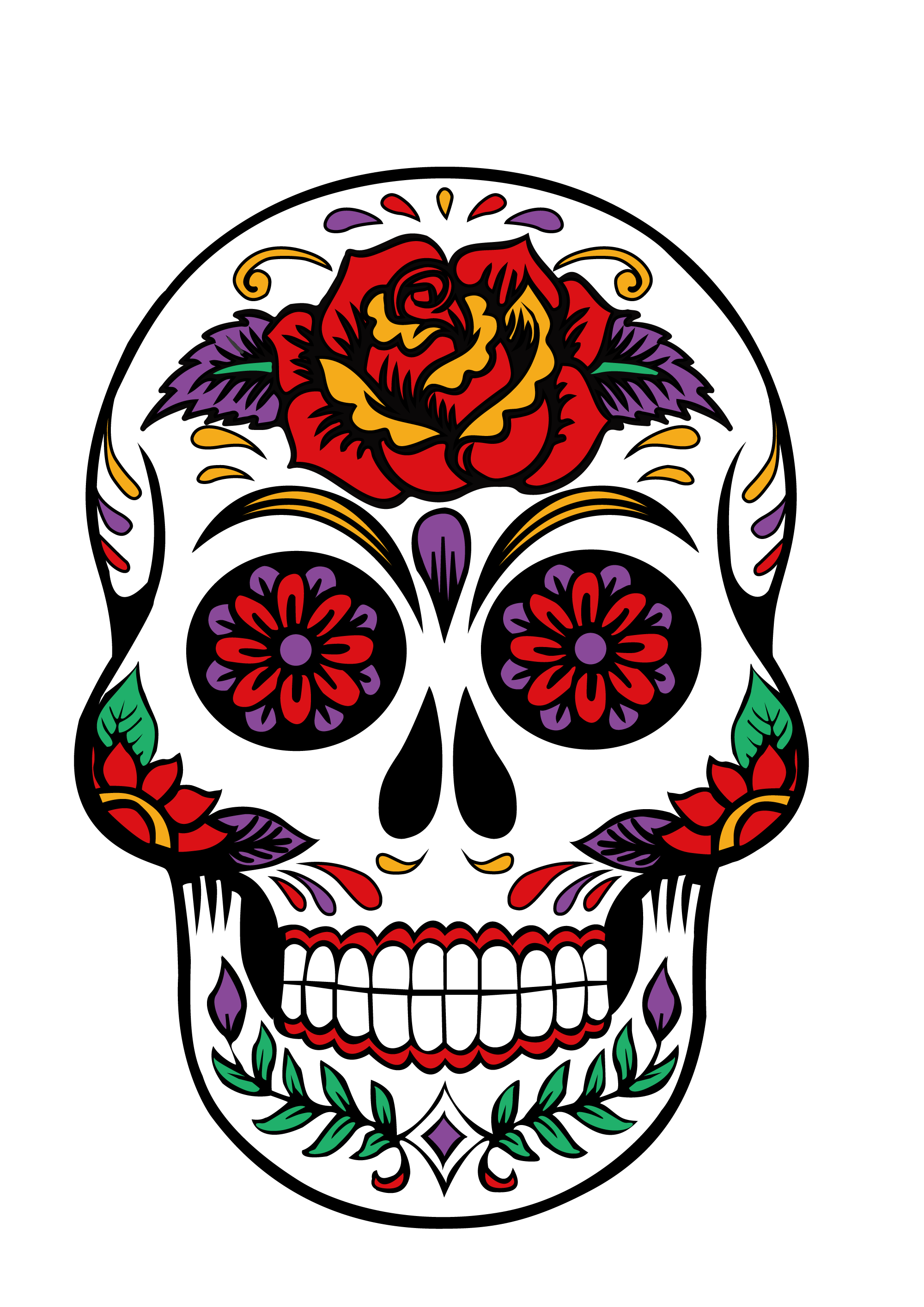 HTVRONT Free SVG File for Download - Sugar Skull
