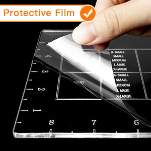 protective film of t shirt ruler