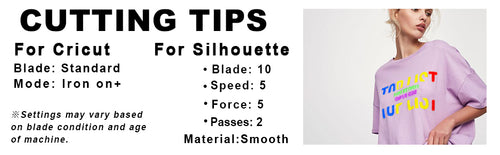 cutting tips for Cricut and Silhouette