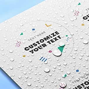 water resistant of glossy sticker paper