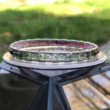 Load and play video in Gallery viewer, Tourmaline Spectrum Silver Bangle