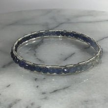 Load and play video in Gallery viewer, Shades of Sapphire Silver Bangle