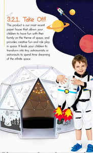Kid Space, Brand New dome play house(Type-B, with connecting passage)