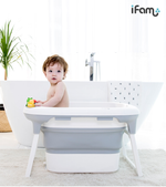 Load image into Gallery viewer, iFam Deluxe Baby Bath Grey L52.5 X W73 X H50