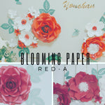 Load image into Gallery viewer, Blooming Paper, Red-A