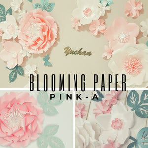 Blooming Paper, Pink-A