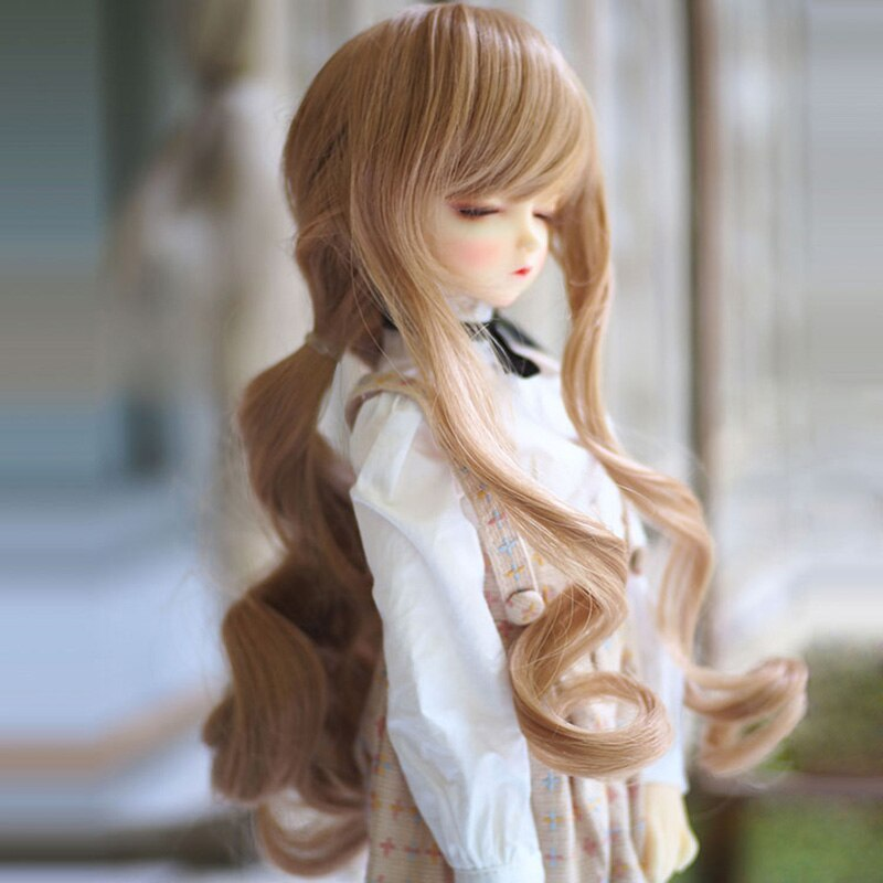 Bybrana 1/3 1/4 1/6 BJD Doll High Temperature Wire Long Wavy BJD Super Dollfile Hair for Dolls Wig Fashion Doll Acceessories