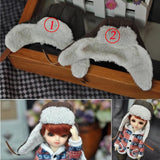 Bybrana 2 Colors Woolen knitted hat Cap Outfit Doll Accessories For 1/4 1/6 BJD Xinyi FR Doll Gift For Girls and boys