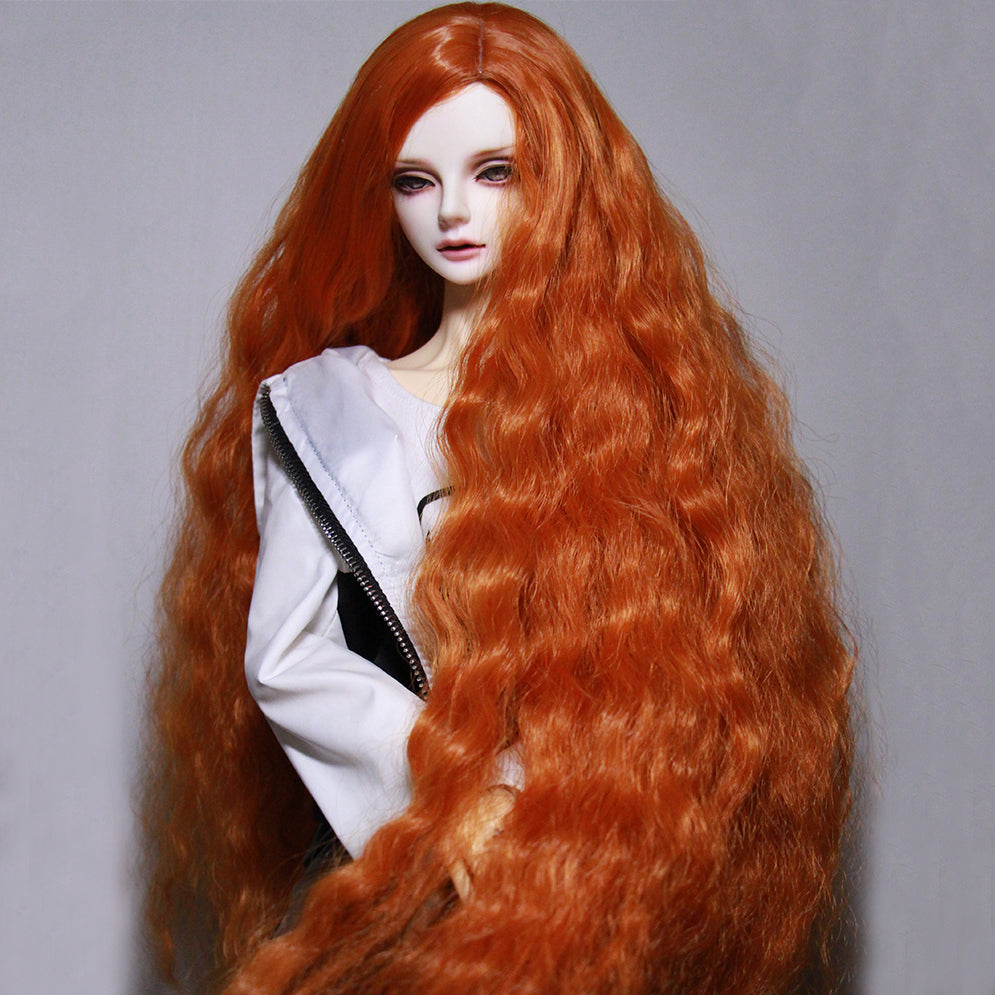 Bybrana BJD Wig Fair size 1/3 1/4 1/6 1/8 Long Wave High Temperature Fiber hair for Dolls free shipping