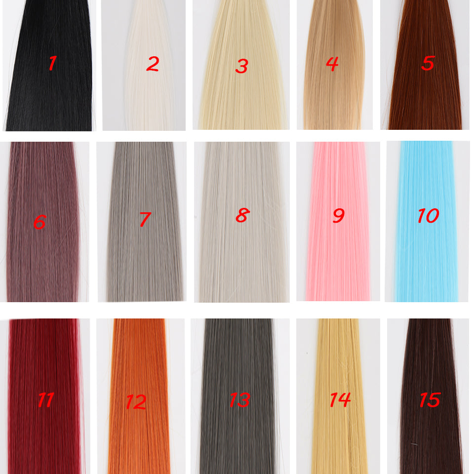 Bybrana Multicolor Long Straight Bangs Wigs High Temperature Fiber 1/3 1/4 1/6 1/8 BJD Wigs Doll Accessories