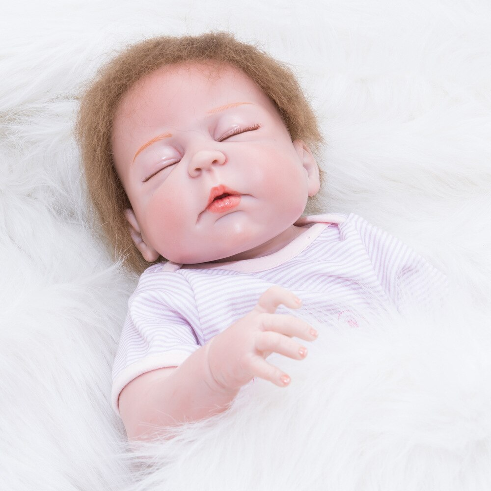 Full Silicone Vinyl Reborn Baby Doll Realistic Girl Babies Dolls 22 Inch 55 cm Lifelike Princess Kids Toy Children Birthday Gift