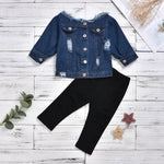 Fashion Jean Jacket For Girls New Baby Boy Clothes Sets Clothing Childrens Jacket Suit Children Kid Suits For 2-6 Years Old
