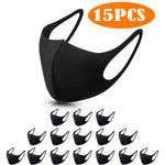 15PC Mask Washable Face Mask Man Woman Reusable Mouth Mask Outdoor Riding Mouth Caps Protective Mouth Cover maskers