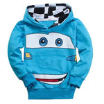 New Children Clothing Baby Boys Fashion Cartoon Car Print Childrens Hooded Coat Kids Cotton Spring And Autumn Clothes 3-7 Years