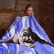 Load image into Gallery viewer, My Photo Art Custom Fleece Blanket  - Choose Your Background