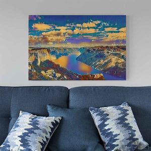 Lysefjord Canvas Print - Wall Art - Decor - Graphic Art personalized gifts custom gift idea Expanded Perspective