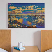 Load image into Gallery viewer, Lysefjord Canvas Print - Wall Art - Decor - Graphic Art personalized gifts custom gift idea Expanded Perspective