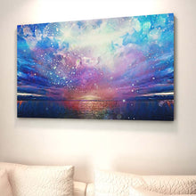 Load image into Gallery viewer, Ocean Sky Fire - Wall Art - Decor - Graphic Art personalized gifts custom gift idea Expanded Perspective