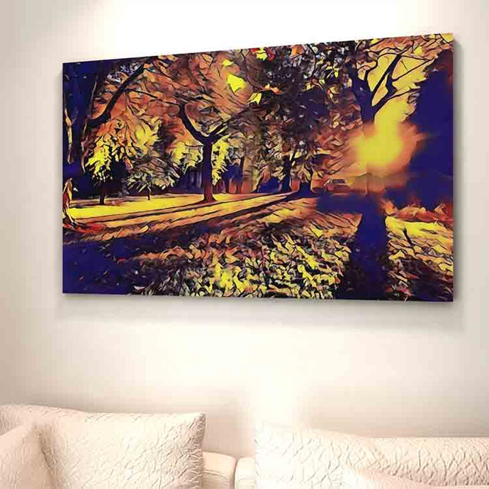Park Shadows Canvas Print - Wall Art - Decor - Graphic Art personalized gifts custom gift idea Expanded Perspective