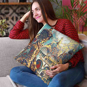 Venice Cathedral Throw Pillow - Home Decor - Couch Pillow personalized gifts custom gift idea Expanded Perspective
