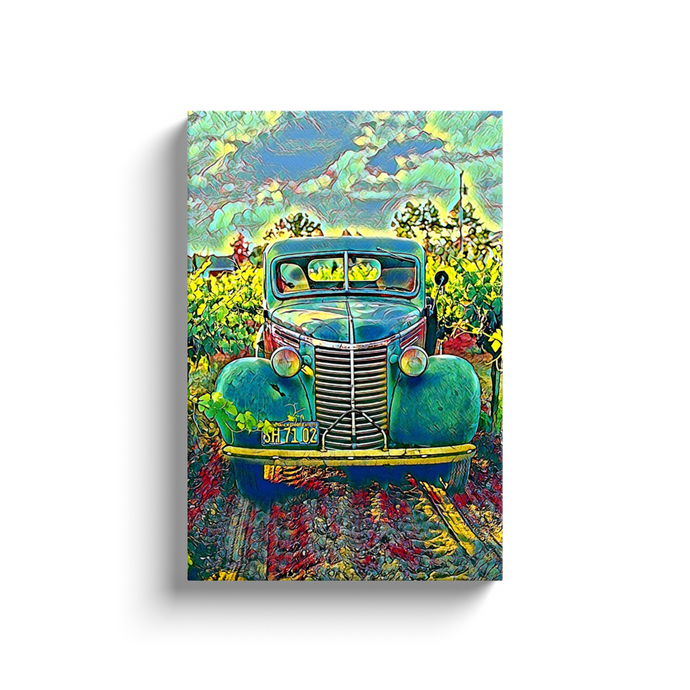 Vintage Truck Canvas Print - Wall Art - Decor - Graphic Art personalized gifts custom gift idea Expanded Perspective