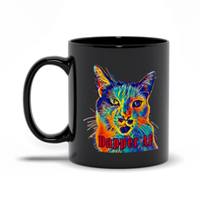 Load image into Gallery viewer, Dapper AF Sir Nibbler Black Mug personalized gifts custom gift idea Expanded Perspective