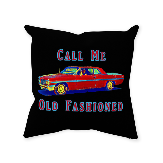 Old Fashioned Throw Pillow - Home Decor - Couch Pillow personalized gifts custom gift idea Expanded Perspective