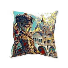 Load image into Gallery viewer, Venice Cathedral Throw Pillow - Home Decor - Couch Pillow personalized gifts custom gift idea Expanded Perspective