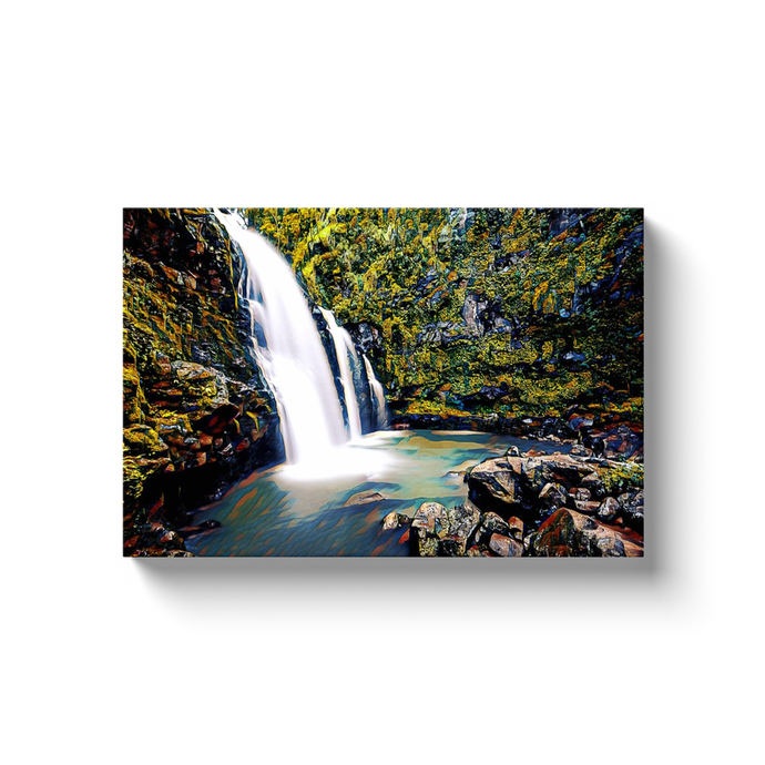Hidden Falls Canvas Print - Wall Art - Decor - Graphic Art personalized gifts custom gift idea Expanded Perspective