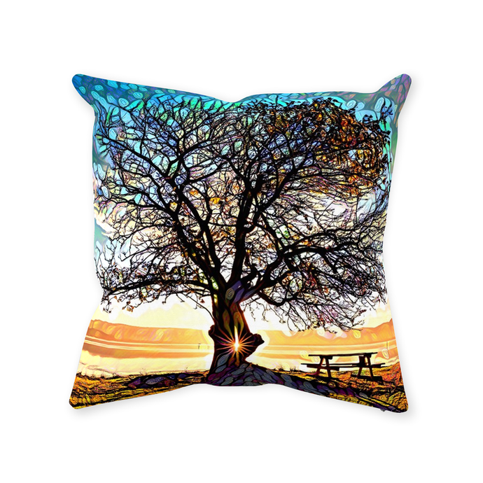 Daydream Tree Throw Pillow - Home Decor - Couch Pillow personalized gifts custom gift idea Expanded Perspective
