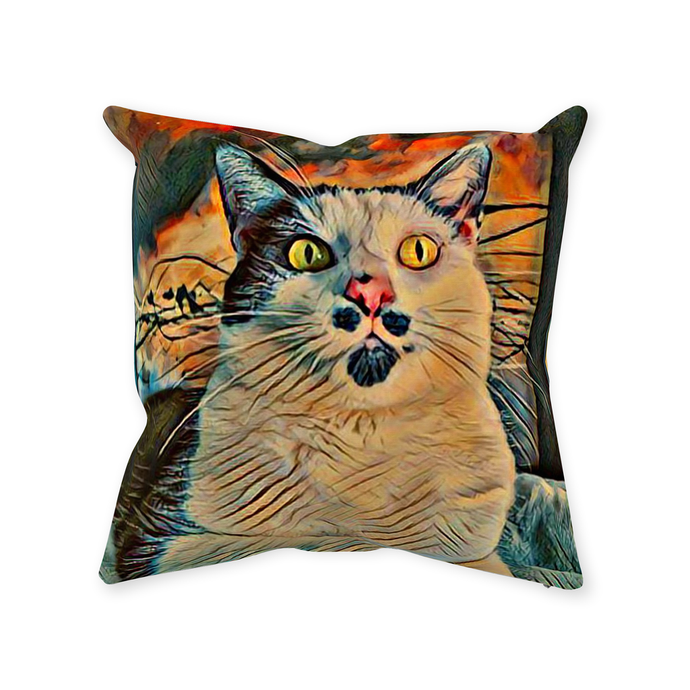 Sir Nibbler the Majestic Throw Pillow - Couch Pillow - Sir Nibbler personalized gifts custom gift idea Expanded Perspective