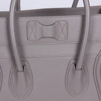Micro Luggage Leather Handbag