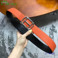 Argent Pad Togo Calfskin Leather Belt