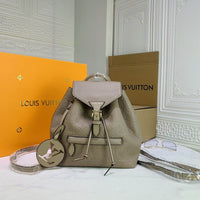 Montsouris Leather Monogram Backpack