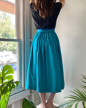 80s Escada 2-Tone Cotton Skirt