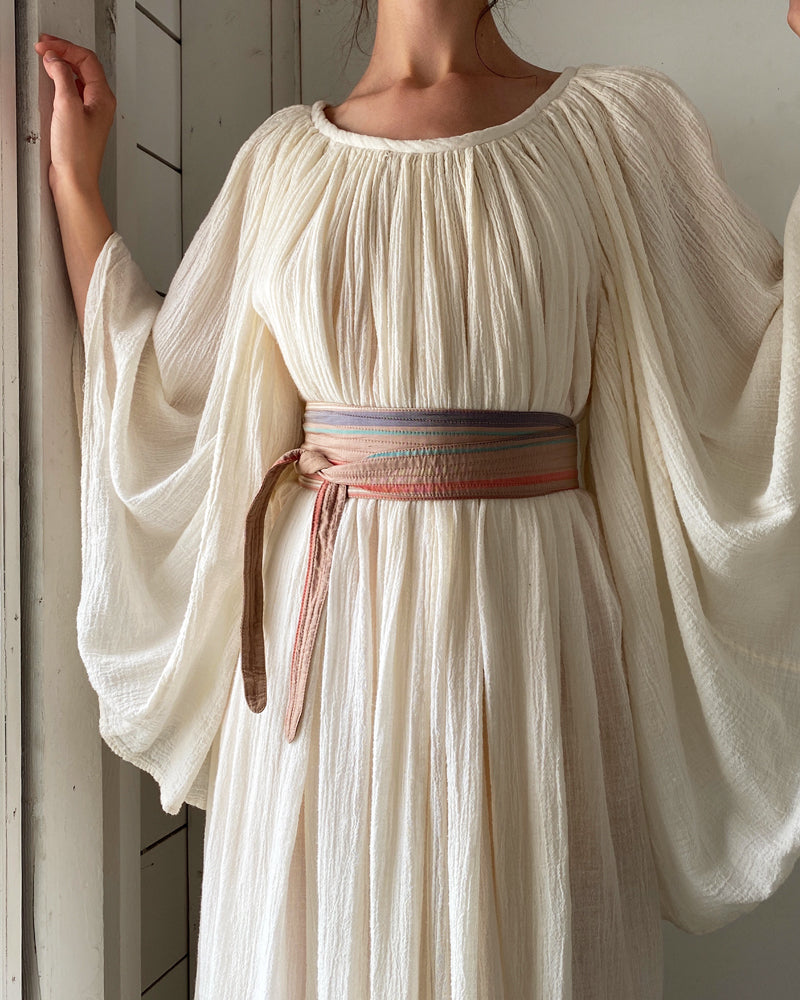80s Striped Silk Obi Belt