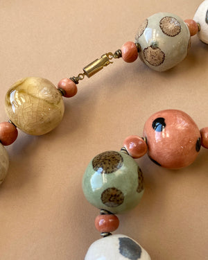 80s Artisan Ceramic Necklace