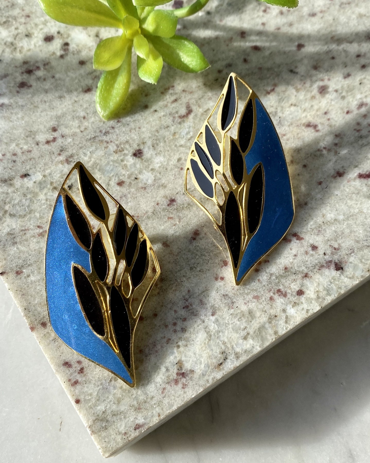 80s Berebi Cut-Out Earrings