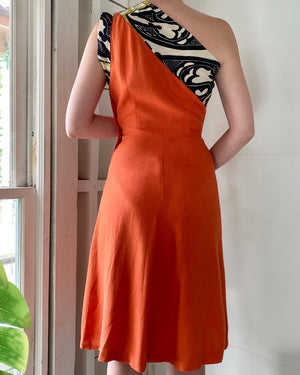 40s One Shoulder Dress