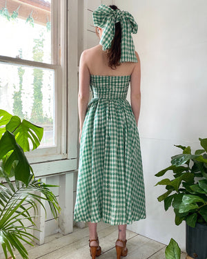 40s Gingham Strapless Dress