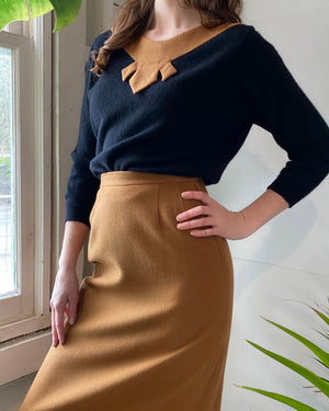 60s Cashmere Sweater & Skirt Set