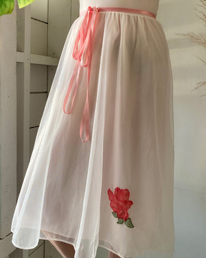 60s Rose Applique Nightgown