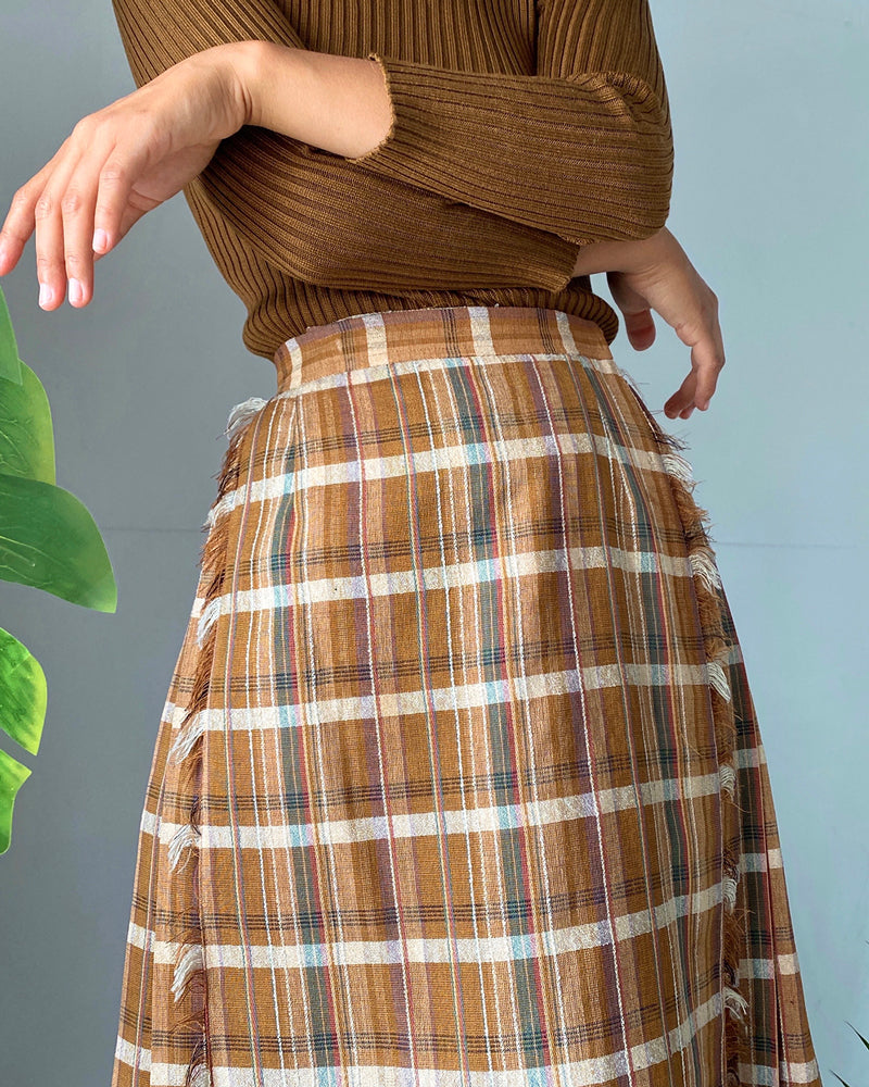 80s Plaid Kilt Skirt