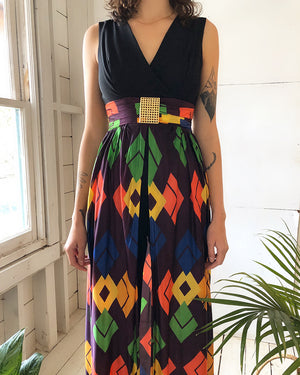 60s Jumpsuit With Attached Skirt