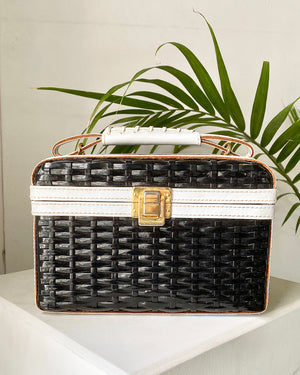 60s B+W Basket Purse