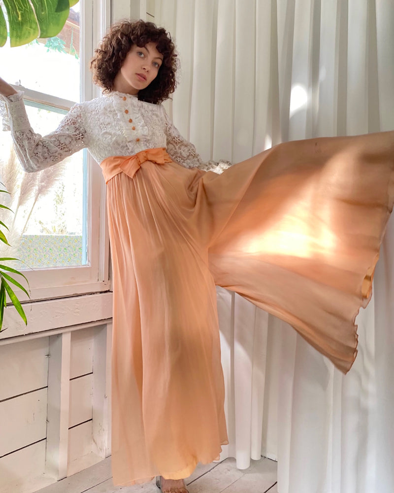 60s Peach Palazzo Jumpsuit