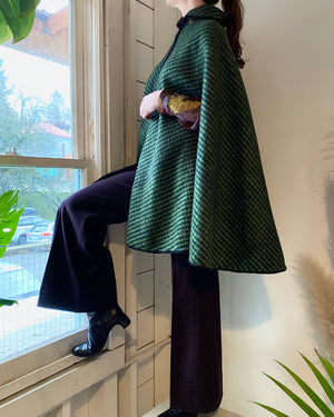 60s Reversible Wool Cape